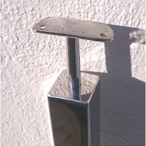Poste 40x40 con pinzas y soporte para pasamanos